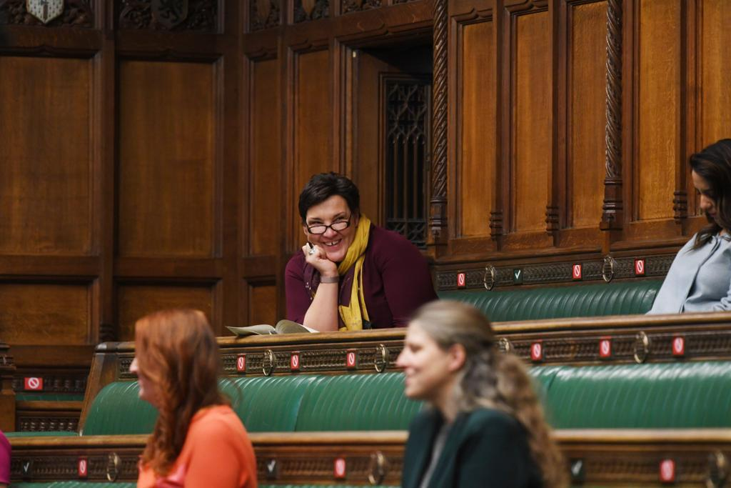 Tonia in the chamber in parliament
